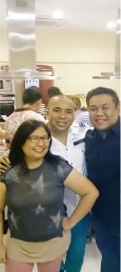 The Trio BFF, Magnolia Silvestre, Marlon Aldenese & Chef Dino Datu