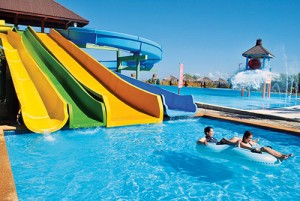 Aquatica Marina water slide and giant bucket