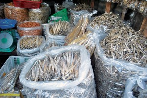 Dried fish at Lingayen market