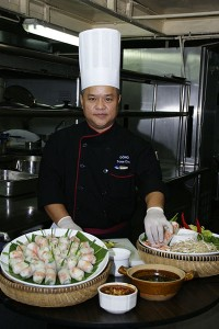Guest Chef Tran Van Dong with Vietnamese Spring Rolls