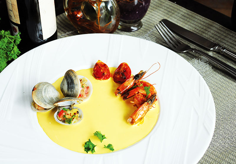Saffron-Clam Cream Sauce
