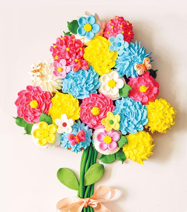 Spring Blooms Bou-Cake