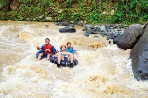 White water tubing at Pangi River in Maitum