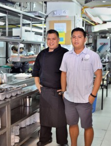 Senior Sous Chef Angelito Bagwan  and Julius Alegre, F&B Manager