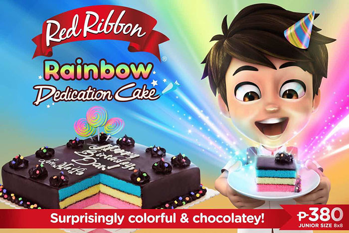 Red Ribbon Rainbow Dedication Cake Is The Ultimate Birthday Surprise