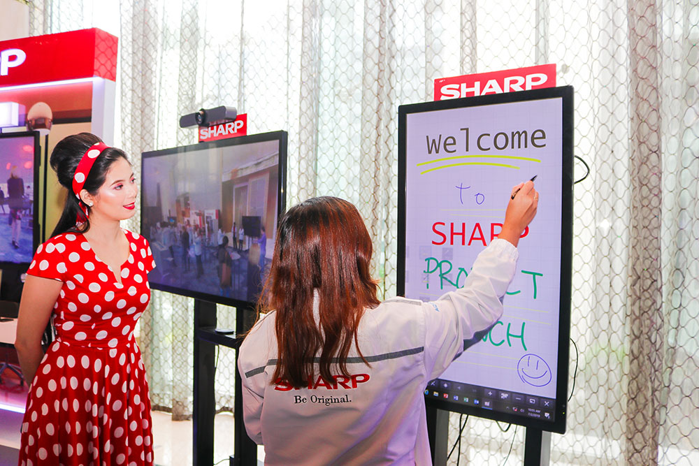 Sharp Big Pad is an interactive display monitor that can become a smart and powerful partner to boost your collaboration in business meeting copy