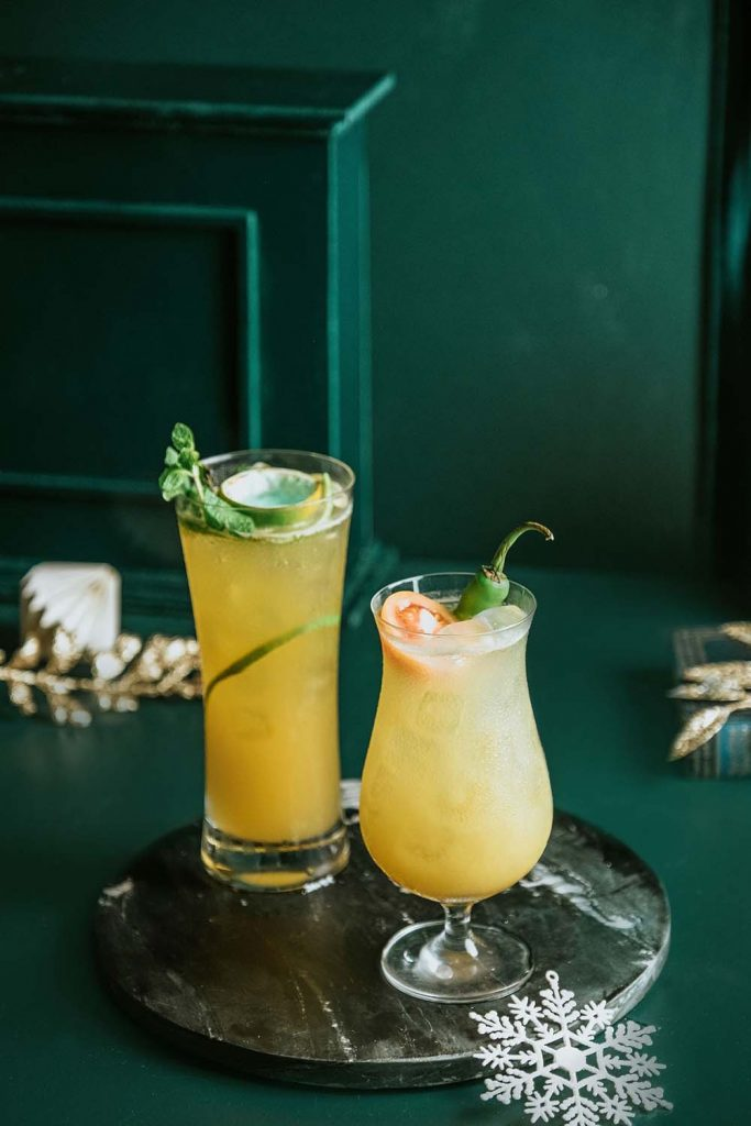 Holiday Drinks at Vu's Sky Bar and Lounge - Sapphire Road and Sinigang Sling