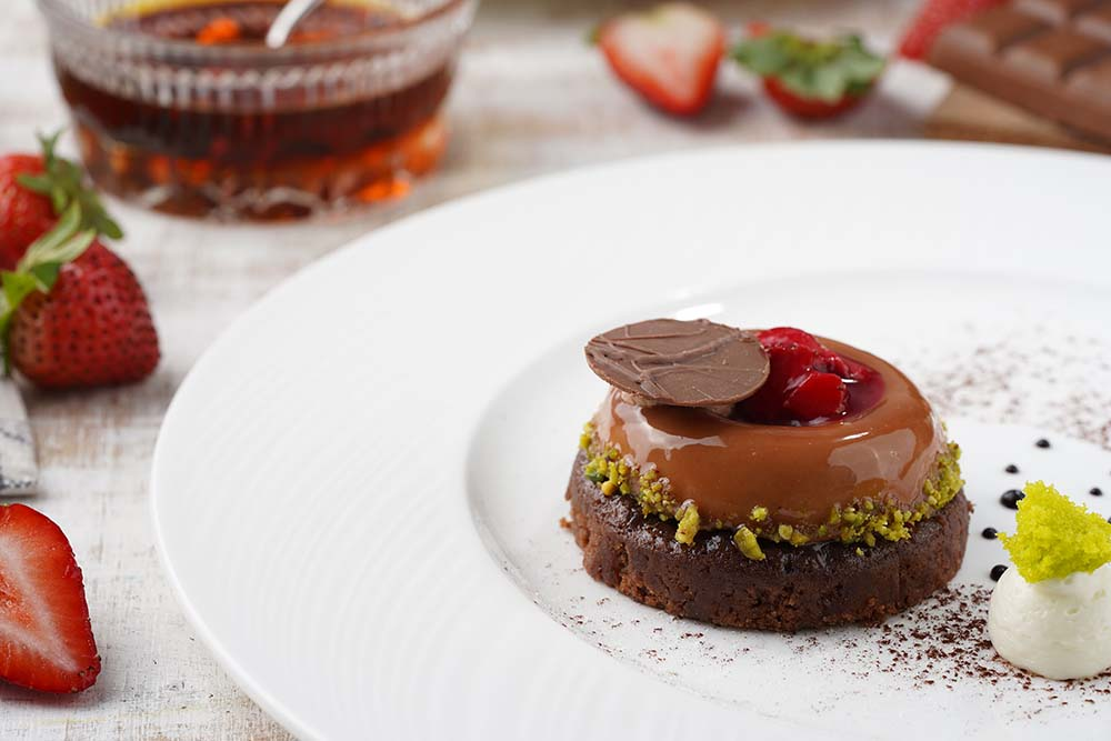 Milk Chocolate Mousse With Candied Maple Bacon Brownie copy