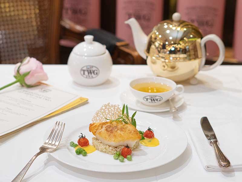 TWG Tea's Valentine's Day Set Menu Main Course - Seabass