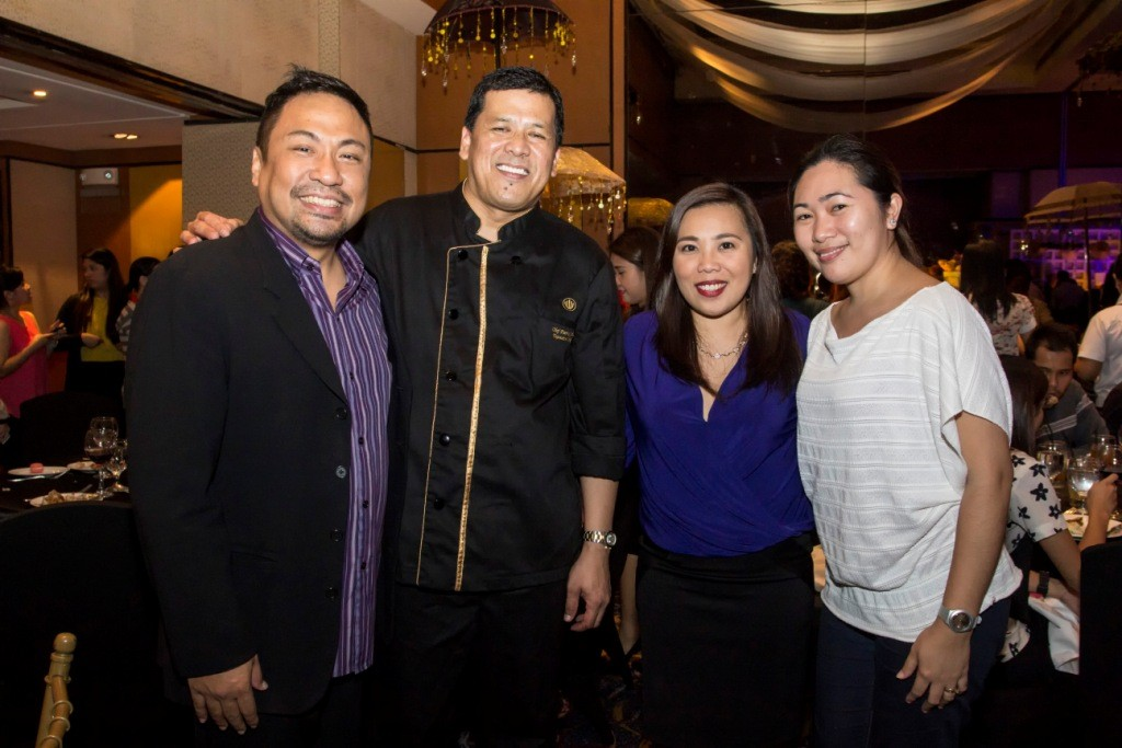 (L-R) Business Mirror's VP for Advertising Sales Marvin Estigoy, Eastwood Richmonde Hotel's Executive Chef Patrick Obia, Prestige Hotels and Resorts' Director of Communications Annie Dioso and Business Mirror's Account Executive Czarina Blancaflor