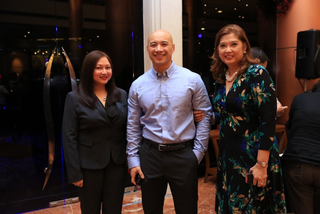 (L-R) Eastwood Richmonde Hotel Asst Dir of Sales Czarina Galano, Anthony Macaraig and Anne Palmares of CCA