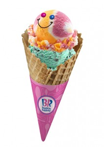 For every regular double scoop ice cream sold, Baskin-Robbins will be donating P31 to Operation Smile.