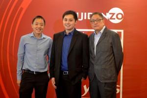 L-R: John Sioco - Operations Director; Adrian Jasper Sioco - Brand Manager; and Nixon Sioco - President.