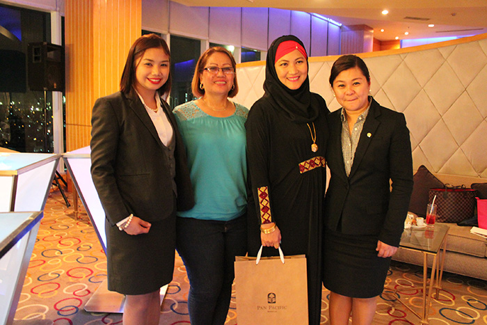 Director of Sales and Marketing, Jane Perez, Sales Executive Ilene Uminga together with guests of Pan Pacific Manila