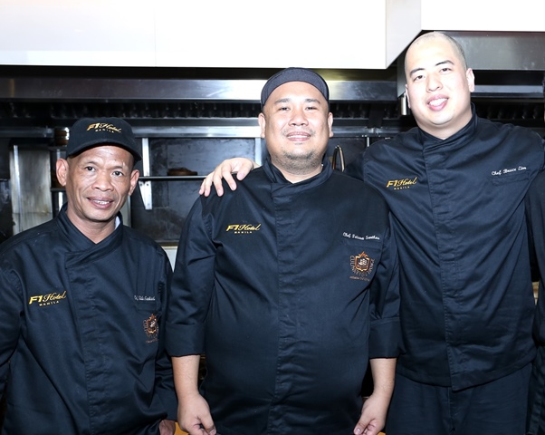 LuzViMinda guest chefs: Chef Sider Tadtad of Big 8 Corporate Hotel; Alab Filipino Restaurant's Chef Tatung Sarthou; and Rustique Kitchen's Chef Bruce Lim