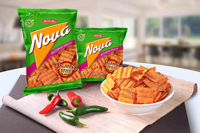 Jack 'n Jill Nova introduces another healthy snacking option with its latest variant, Jalapeño Spice. Indulge in the guilt-free goodness of this fiber-rich multigrain snack made tastier with a spicy jalapeño kick.