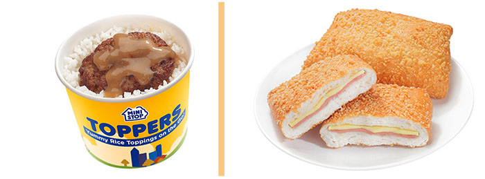 MINISTOP has an array of well-loved ready-to-eat products, including favorites One-piece Burger Steak Toppers and Ham & Cheese Kariman.