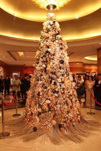 Pan Pacific Manila's Christmas Tree adorned with native Filipino ornaments