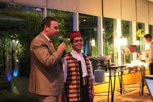 Pan Pacific Manila's General Manager, Richard Masselin with Chef Tarek Alsarraj