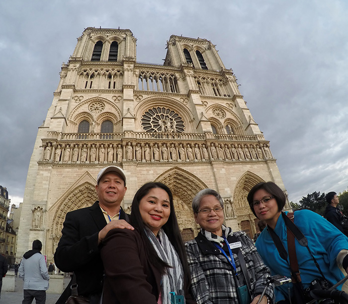 The grand prize winner of The French Baker's 25th anniversary 'Visit Paris in Summer 2015' promo, Alma Cielo Arroyo is joined in her 10-day, all-expense paid trip to Paris, France, by her husband Norman Arroyo, her mom Ma. Erlinda de Ramos and her sister Ma. Darlynn del Rosario.
