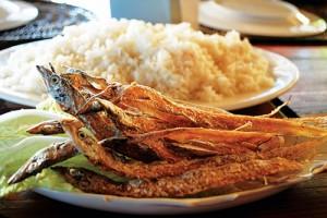 Pinca (dried swordfish) at El Puerto Marina breakfast