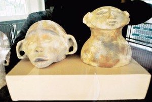 Replicas of archaeological finds in Maitum