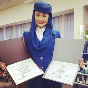 Ryzlle Piamonte in her Saudia Airlines uniform