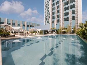 Swimming Pool of Crimson Hotel Filinvest City, Manila