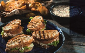 Making delectable dishes has never been easier with the Russell Hobbs small appliances and the Mood Food cookbook. The sweet potato crisps were cooked using the Russell Hobbs Purifry Health Fryer, while the paninis were grilled with the Russell Hobbs panini grill.