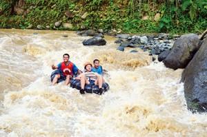White water tubing at Pangi River in Maitum