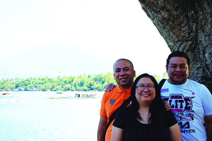 Marlon Aldenese - Advertising Sales Manager, Magnolia Silvestre - Managing Editor, and Chef Dino Datu - Editor in Chief