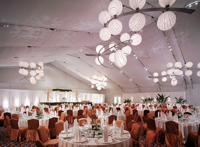 The spacious Marquee makes the perfect locale for banquets                                and conferences.