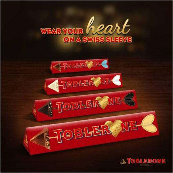 Toblerone Valentine's Day Sleeves Poster