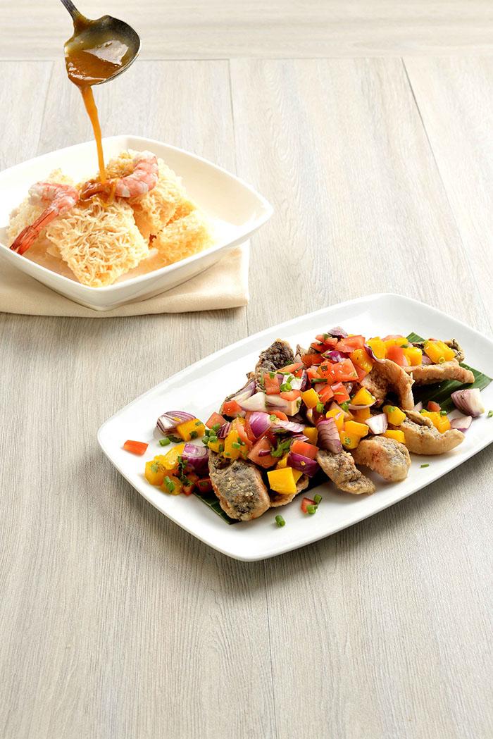C2 - Crispy Pancit Palabok and Tilapia with Mango   Salsa