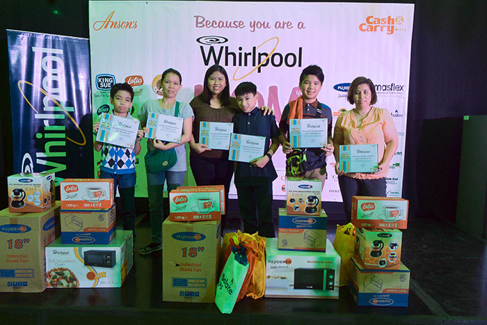 The winners of the Whirlpool No-Cook Dessert Making Competition
