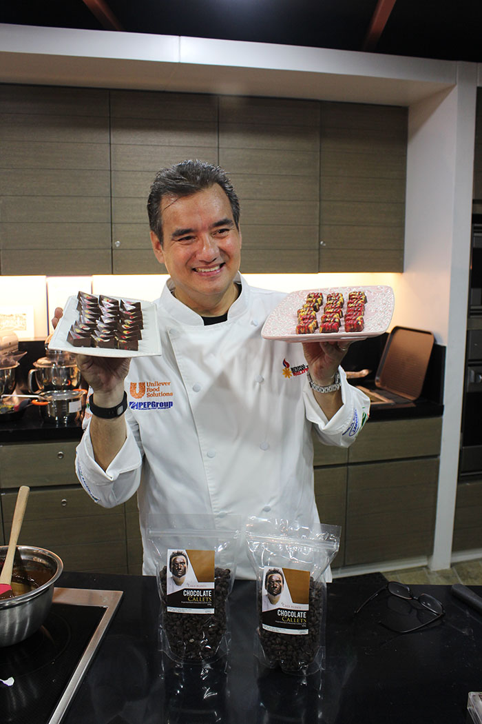 Chef Buddy Trinidad and his chocolate pralines