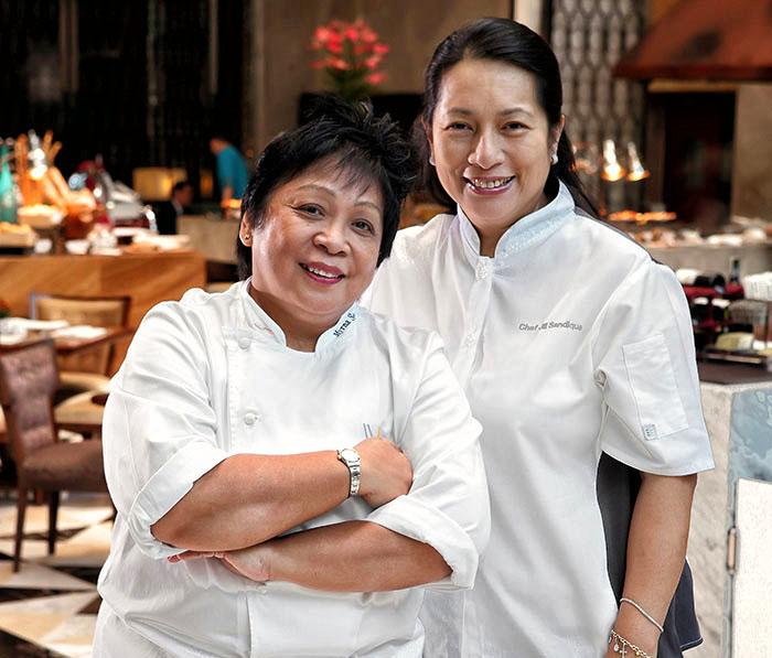 (L-R) Chef Myrna Segismundo and Chef Jill Sandique