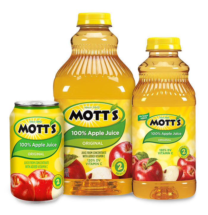 Mott's 100% Original Apple Juice Variants