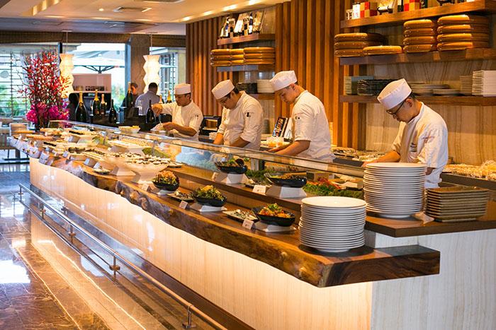 Nobu Manila.11.sushi bar at the Sunday brunch
