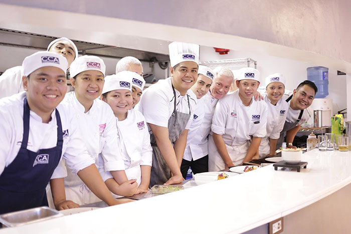 CCA students and faulty with Chef Christian Tetedoie