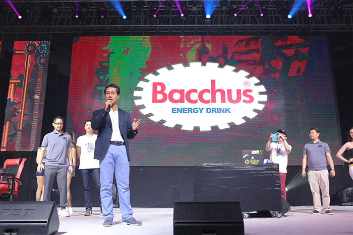 D. H. Lee, EVP and CEO of Dong-A Korea shares the benefits   of drinking Bacchus and how it helps gamers win their game