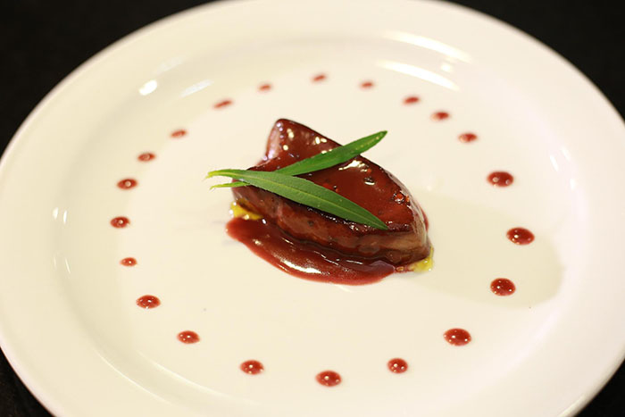 Seared Duck Liver 'Foie Gras' with Raspberries