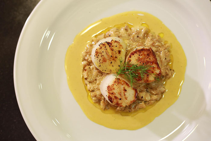 Sea Scallops with Porcini Mushrooms and Spice