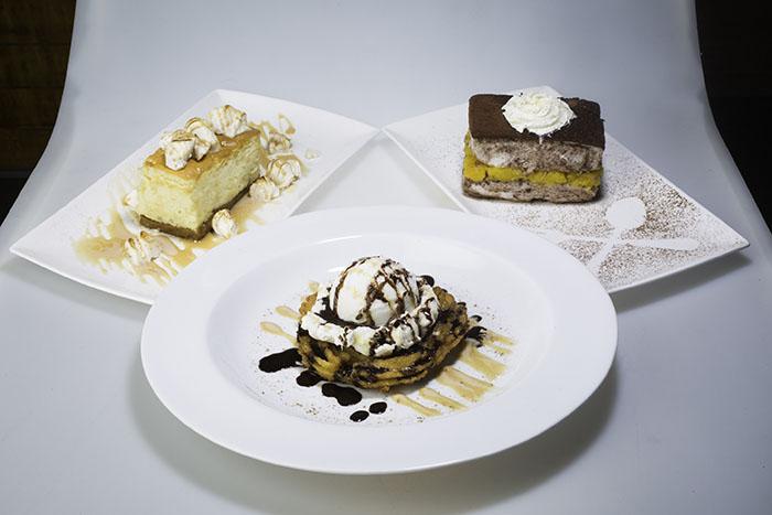 Kesong Puti Cheesecake, Gypsy Cake, Churros a la Mode