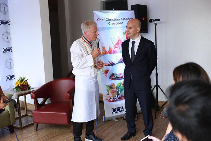 L-R Master Chef Christian Tetedoie and Benjamin Grenier of ICDE