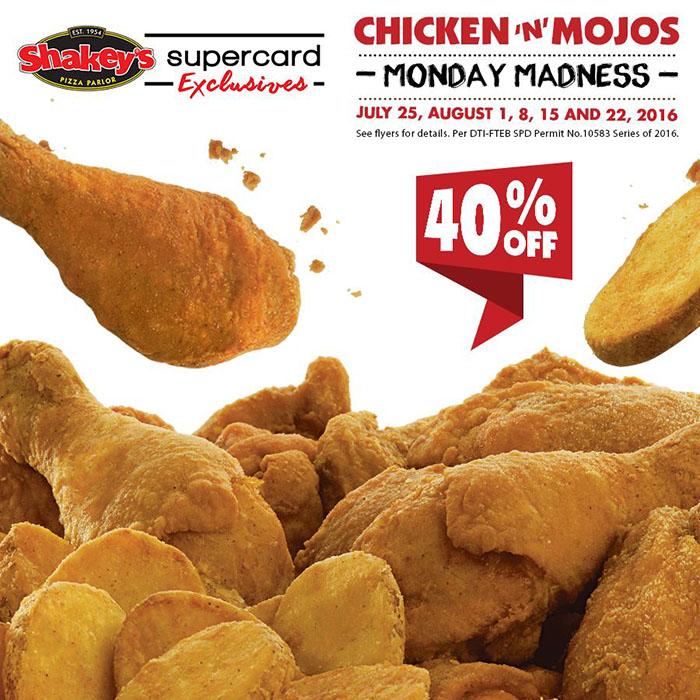 Shakey's Monday Madness Chicken 'N' Mojos