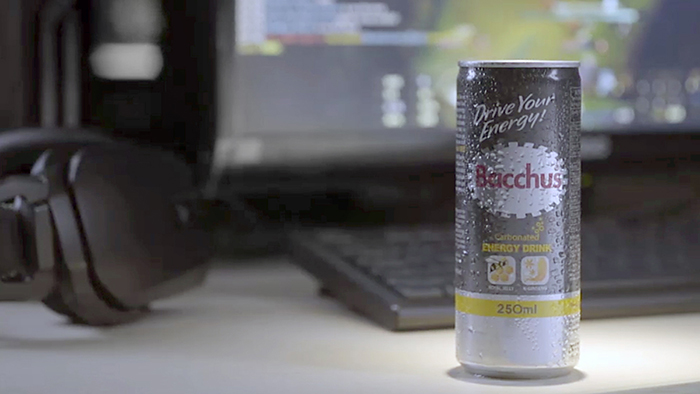 The new Bacchus Energy Drink carbonated variant