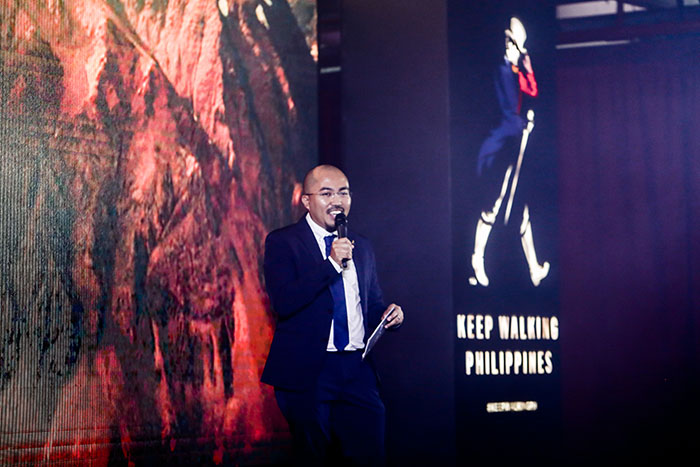Diageo Marketing Director Cesar Gangoso introduces the Keep Walking Philippines Campaign.