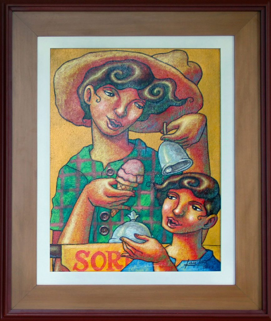 "Sorbetes by Lawton Ladao, 18"" x 24"", acrylic on canvas"
