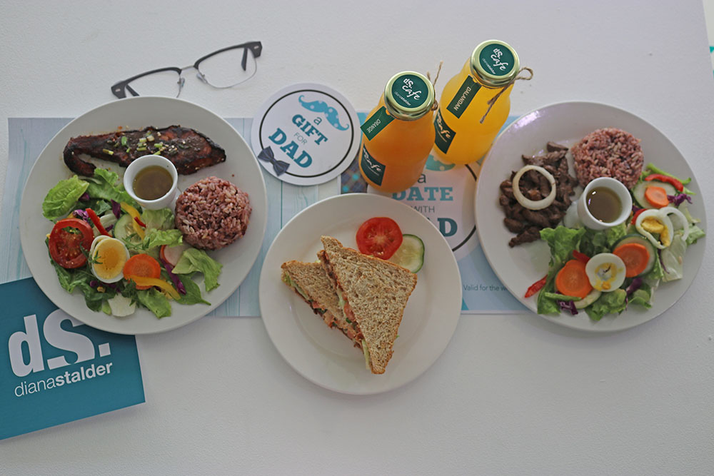 Food served from DS Cafe during the media and bloggers day